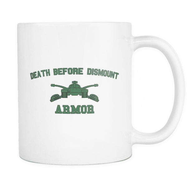 Armor Death Before Dismount Mug