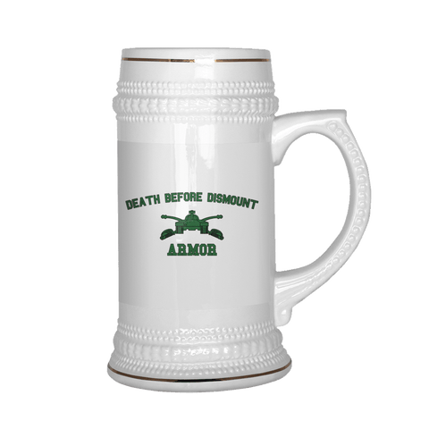 Armor Death Before Dismount Beer Stein