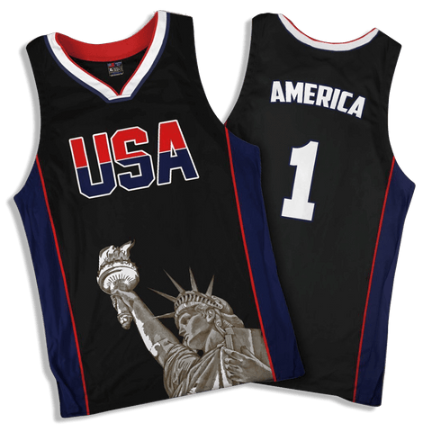 Limited Edition Black America #1 Basketball Jersey