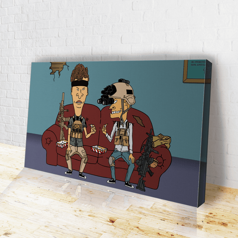 Operator Beavis and Butthead Canvas