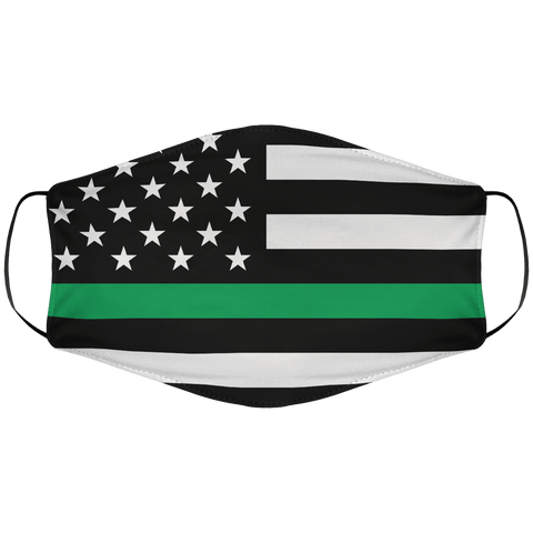 Greenline Flag Face Cover