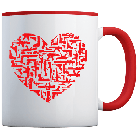 Guns Heart - Coffee Mug