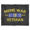 Meme War Veteran Fleece Blanket