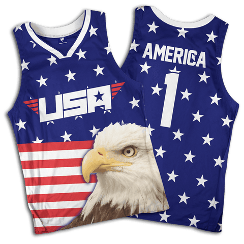 Eagle America #1 Basketball Jersey