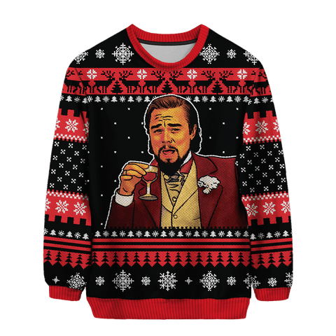 Laughing Leo Christmas Sweater