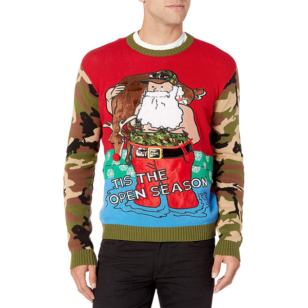 Tis the Open Season Ugly Christmas Sweater