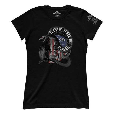 Live Free Or Die Skull (Ladies)
