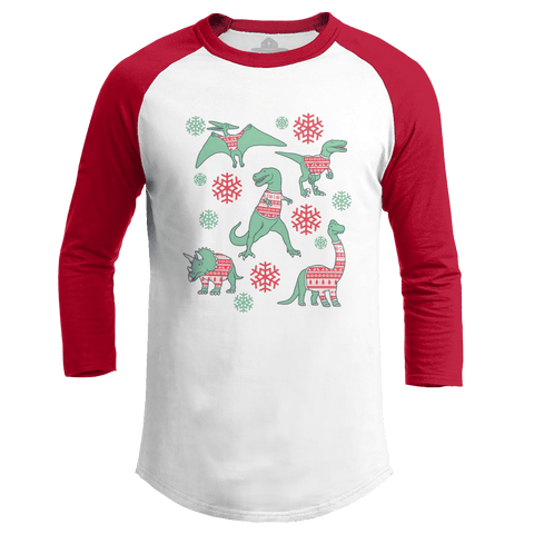 Dinos In Christmas Sweaters (Ladies)