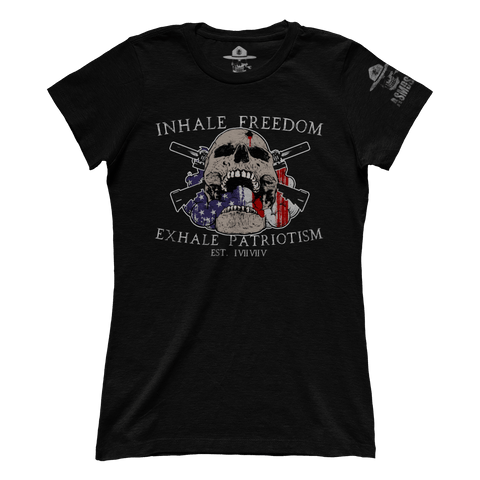Inhale Freedom Exhale Patriotism (Ladies)