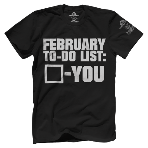 February To Do List