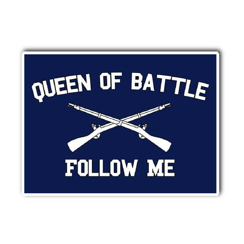 Infantry Queen of Battle Vinyl Decal