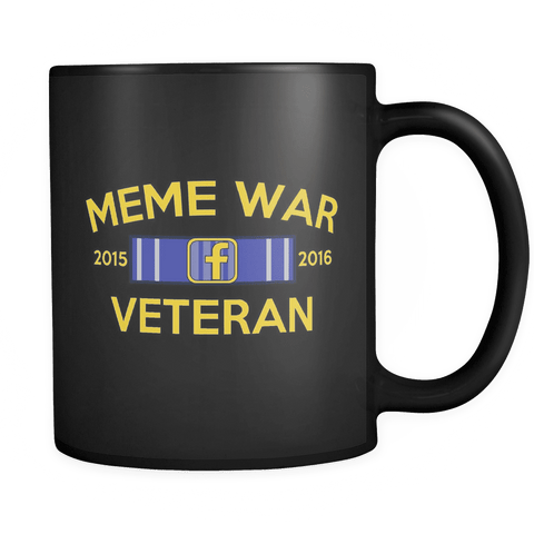 Meme War Veteran Mug BLACK
