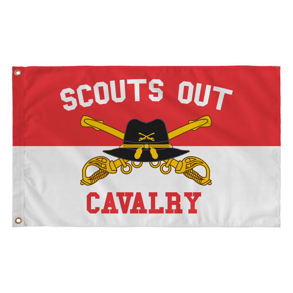 Cavalry Scouts Out Flag