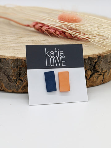 Large rectangles mix and match blue and orange