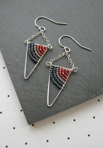 Denim, pewter and pomegranate / With UK postage included