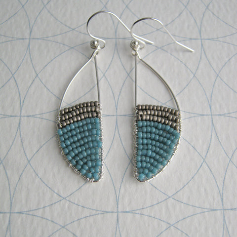 Aqua and pewter / With UK postage included                     Aqua and pewter / With international shipping