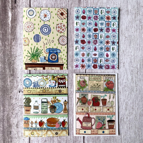Pack of 4 'Garden Florals' theme