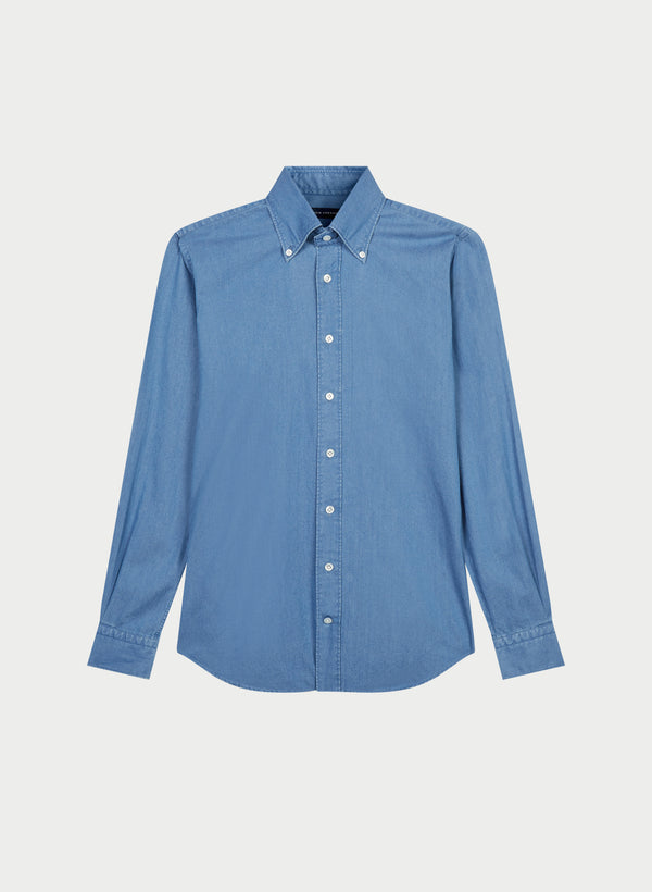 Chambray Button Down Collar Shirt