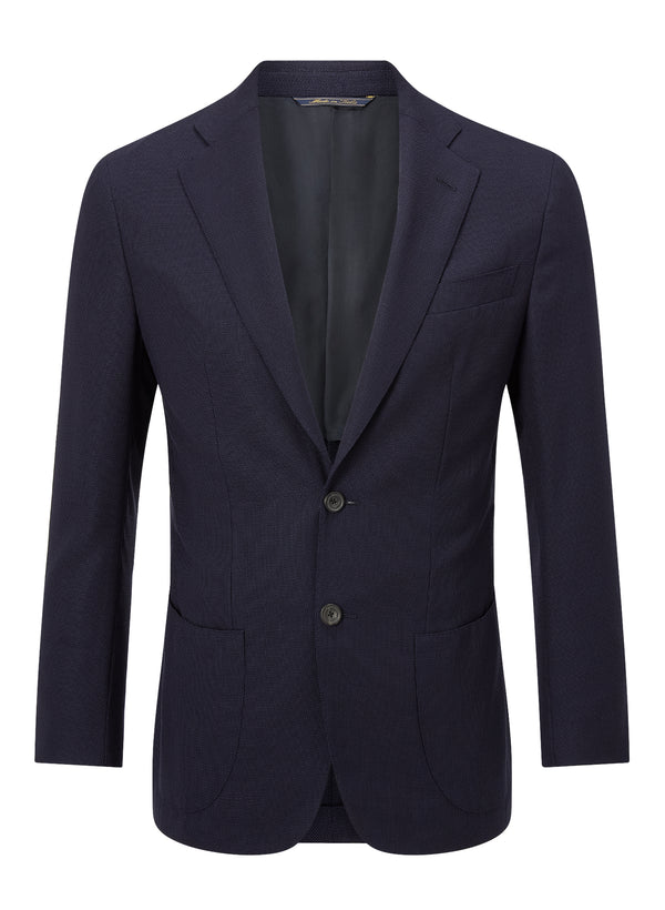 Hopsack Deconstructed Blazer - Navy