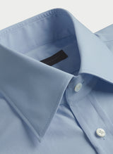 Solid Poplin Point Collar Shirt - Sky Blue