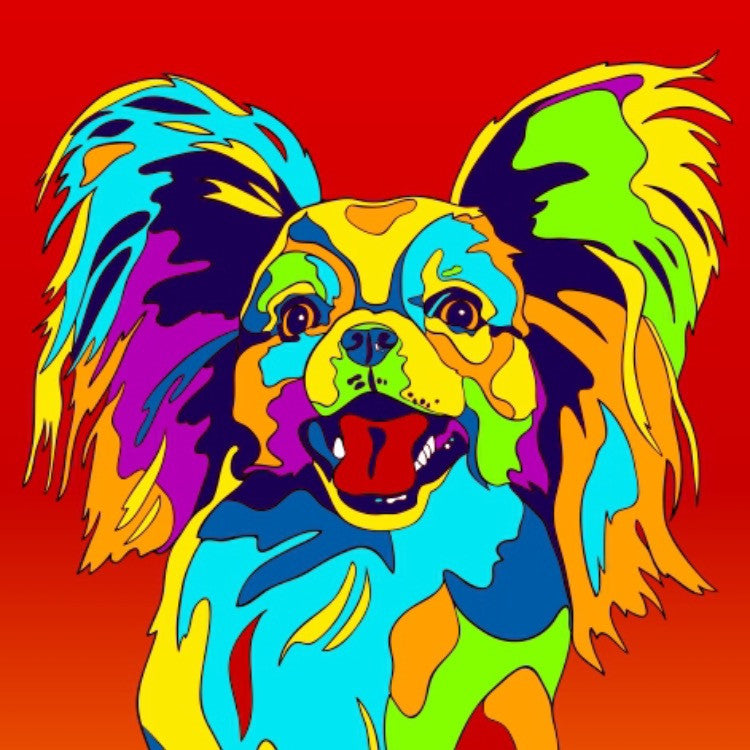 Multi-color Dog Prints on Facebook!