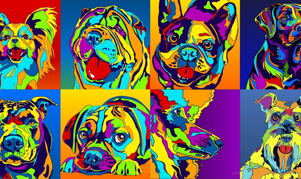 Rainbow Dog Canvas Prints: 100+ Colorful Dog Breed Artworks!