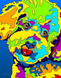 Multi-Color Bichon Frise Dog Breed Matted Prints & Canvas Giclées - MULTI-COLOR DOG PRINTS