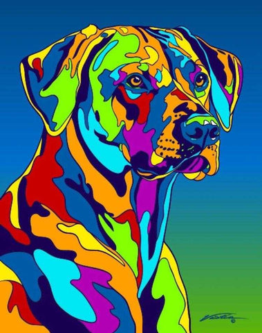 Rhodesian Ridgeback Matted Prints & Canvas Giclées - MULTI-COLOR DOG PRINTS