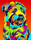 Multi-Color Wheaten Terrier Dog Breed Matted Prints & Canvas Giclées - MULTI-COLOR DOG PRINTS
