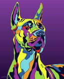 Great Dane Matted Prints & Canvas Giclées - MULTI-COLOR DOG PRINTS