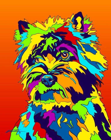 Cairn Terrier Matted Prints & Canvas Giclées - MULTI-COLOR DOG PRINTS
