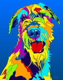 Irish Wolfhound Matted Prints & Canvas Giclées - MULTI-COLOR DOG PRINTS