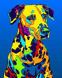 Dalmatian Matted Prints & Canvas Giclées - MULTI-COLOR DOG PRINTS