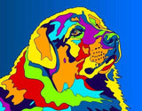 Multi-Color Pyrenean Mountain Dog Breed Matted Prints & Canvas Giclées - MULTI-COLOR DOG PRINTS