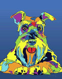 Multi-Color Schnauzer Dog Breed Matted Prints & Canvas Giclées - MULTI-COLOR DOG PRINTS