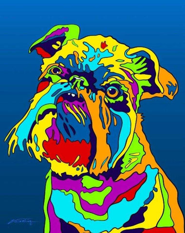 Multi-Color Griffon Bruxellois Dog Breed Matted Prints & Canvas Giclées - MULTI-COLOR DOG PRINTS