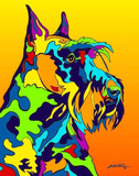 Scottish Terrier Matted Prints & Canvas Giclées - MULTI-COLOR DOG PRINTS