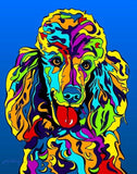 Poodle Matted Prints & Canvas Giclées - MULTI-COLOR DOG PRINTS