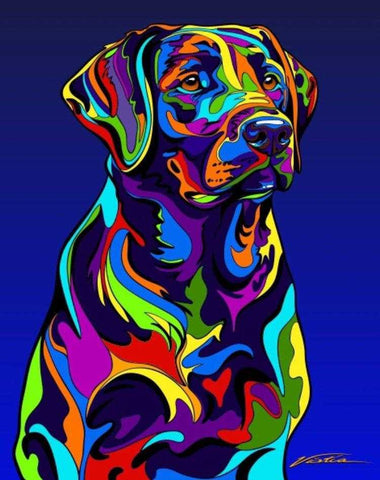 Labrador Retriever Matted Prints & Canvas Giclées - MULTI-COLOR DOG PRINTS