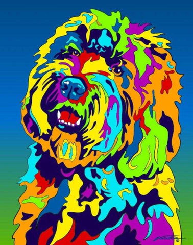 Multi-Color Labradoodle Dog Breed Matted Prints & Canvas Giclées - MULTI-COLOR DOG PRINTS