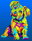 Mixed Breed Matted Prints & Canvas Giclées - MULTI-COLOR DOG PRINTS
