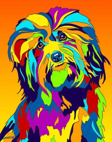 Havanese Matted Prints & Canvas Giclées - MULTI-COLOR DOG PRINTS