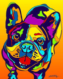 French Bulldog Matted Prints & Canvas Giclées - MULTI-COLOR DOG PRINTS