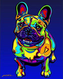 Multi-Color French Bulldog Dog Breed Matted Prints & Canvas Giclées - MULTI-COLOR DOG PRINTS