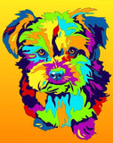 Multi-Color Yorkipoo Terrier Dog Breed Matted Prints & Canvas Giclées - MULTI-COLOR DOG PRINTS