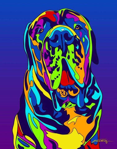 English Mastiff Matted Prints & Canvas Giclées