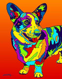 Multi-Color Corgi Dog Breed Matted Prints & Canvas Giclées - MULTI-COLOR DOG PRINTS