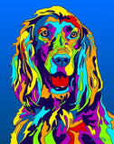 Irish Setter Matted Prints & Canvas Giclées - MULTI-COLOR DOG PRINTS