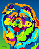 Chow Chow Matted Prints & Canvas Giclées - MULTI-COLOR DOG PRINTS