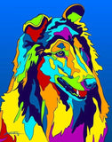 Rough Collie Matted Prints & Canvas Giclées - MULTI-COLOR DOG PRINTS